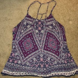 Tops - Strappy paisley tank top